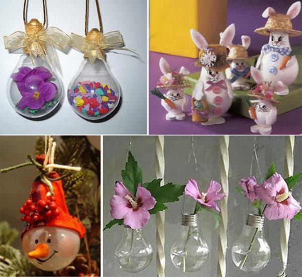 декорированные лампочки на подарок
