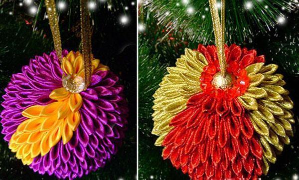 оригинальные шары на новогоднюю елку