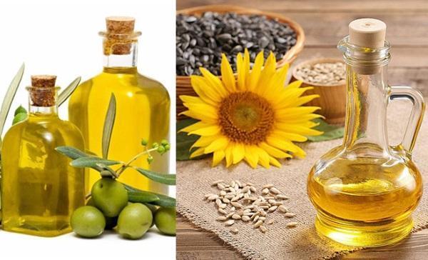 подсолнечное и оливковое масло для настойки жмыха