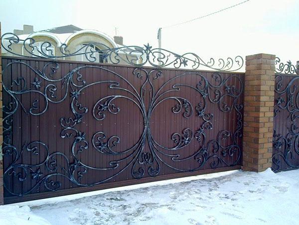 Фото ворот и калиток с узорами