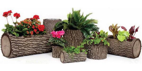оригинальные вазоны для цветов на участке