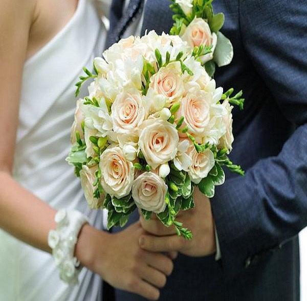 венерин волос в букете невесты