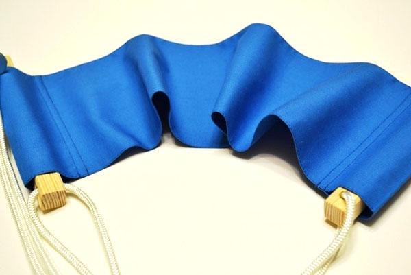 фиксация планок и ткани
