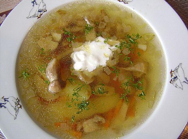 подаем суп к столу