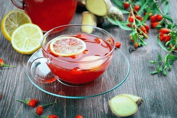 напиток из годжи с лимоном