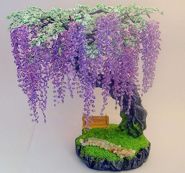 Деревья из бисера фото и картинки