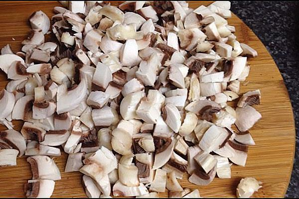 нарезка грибов
