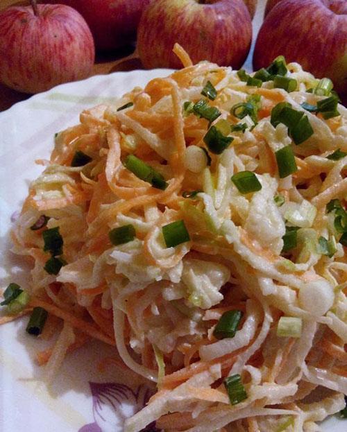 салат из дайкона и яблок