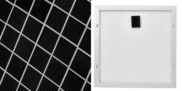 вид солнечной батареи спереди и сзади