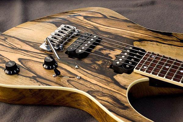 гитара из эбенового дерева