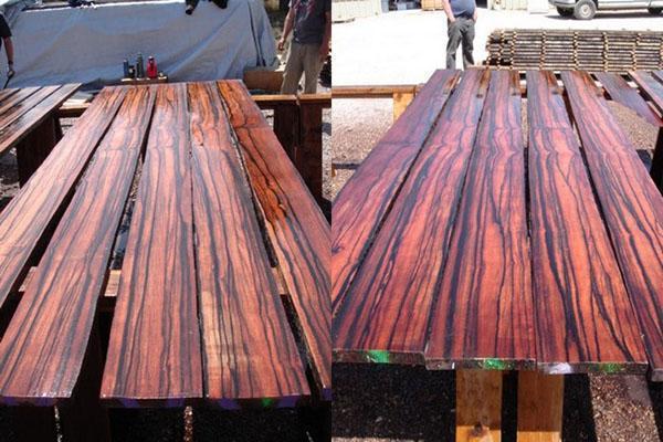процесс обработки эбенового дерева