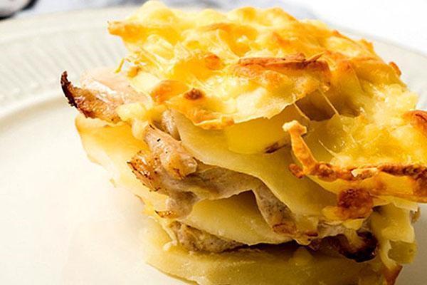 запеканка из картофеля и курицы