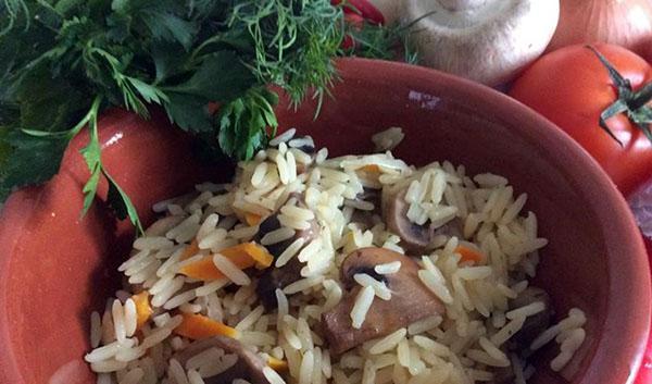 рис с грибами по классическому рецепту