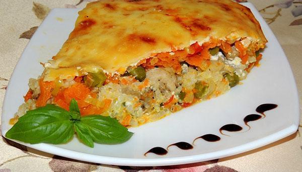 рисовая запеканка с овощами