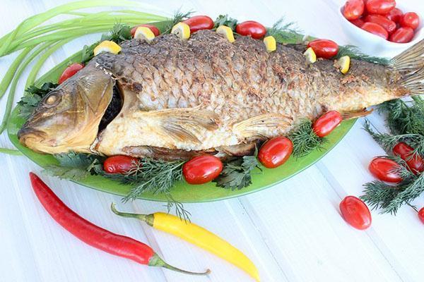 украсить готовую рыбу