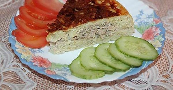 мясная запеканка с картофелем в мультиварке