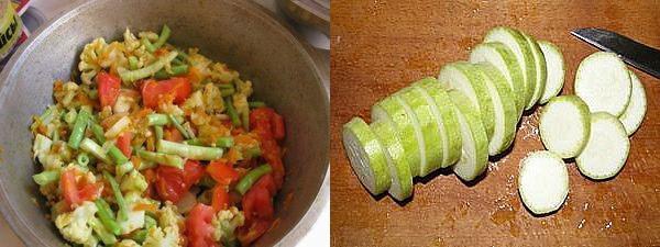 тушить овощи и нарезать кабачки