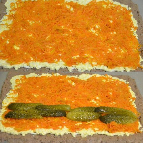 выложить морковьи соленые огурцы