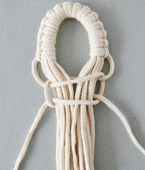 плетение крепежной петли