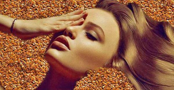 красота с семенами льна