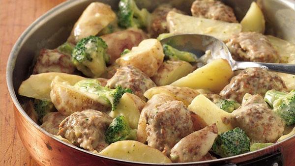тефтели с картошкой в духовке