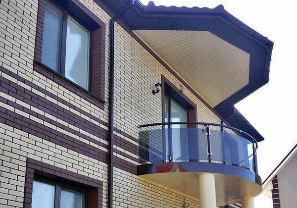 обшивка не застекленного балкона