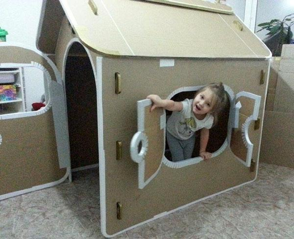 самодельный домик из картона