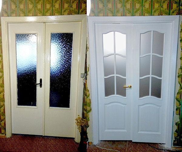 как обновить старую дверь