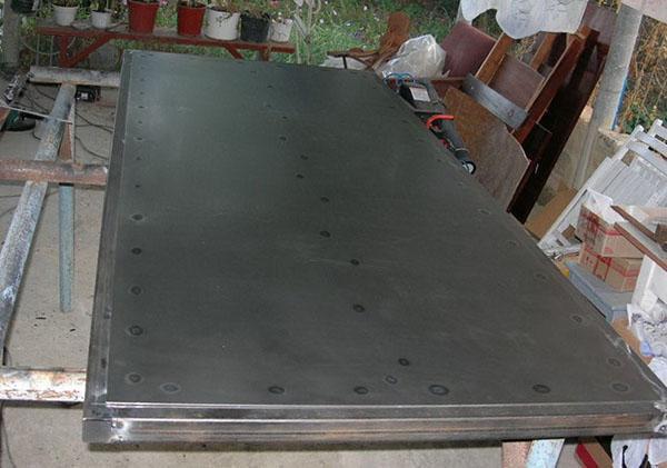 Металлическая дверь из профтрубы своими руками фото 696