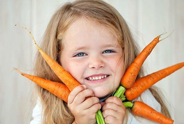 морковь в питании детей