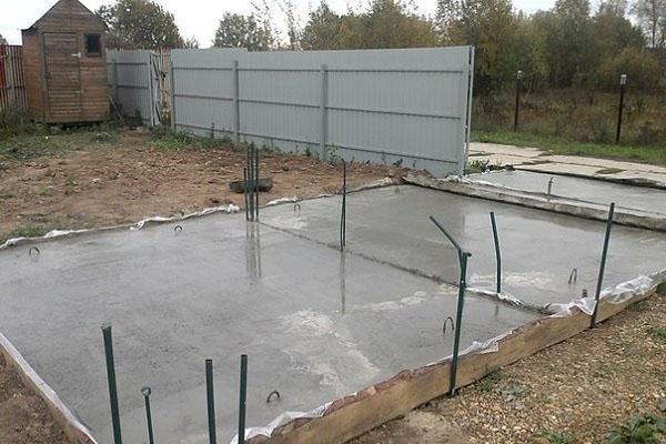 цементирование площадки для навеса