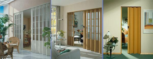 разные виды двери гармошка