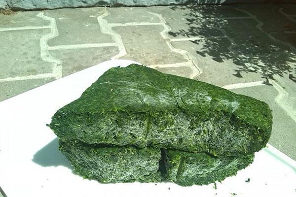 измельченный замороженный шпинат