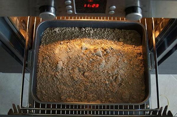 прожаривание почвы в духовке